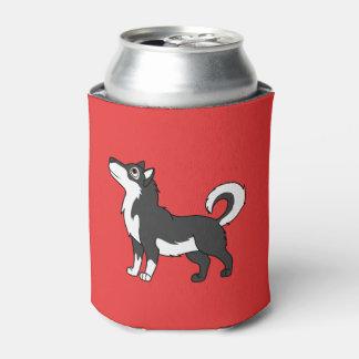 黒いアラスカンマラミュート 缶クーラー