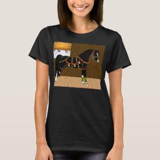 黒いアラビアの馬のクリスマス Tシャツ