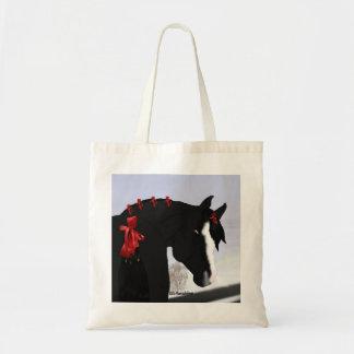 黒いアラビアの馬 トートバッグ