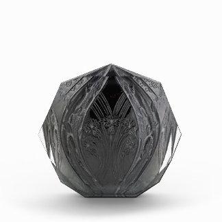黒いアールデコのヘビガタトカゲのつぼ 表彰盾