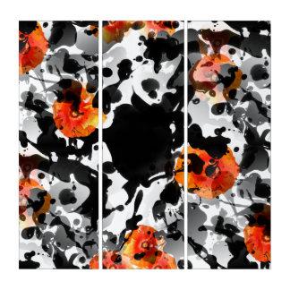 黒いインク及びケシパターン + あなたのbackgr。 及びアイディア トリプティカ