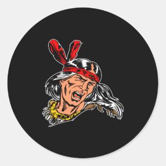 黒いインディアン ラウンドシール