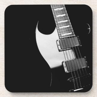 黒いエレキギターのコースターセット コースター