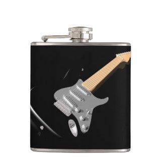 黒いエレキギターのフラスコ フラスク