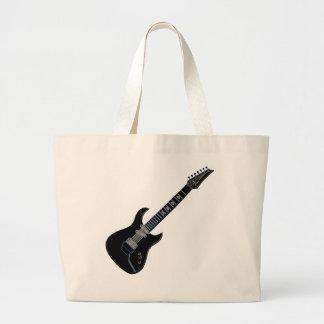 黒いエレキギター ラージトートバッグ