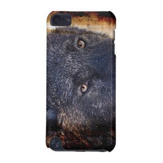 黒いオオカミは野性生物の動物愛好家のIPodの箱を注目します iPod Touch 5G ケース