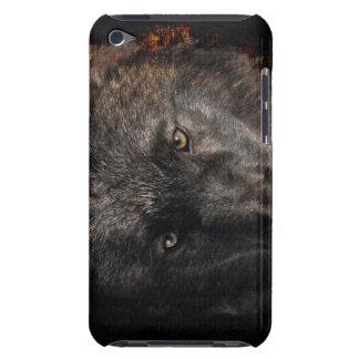 黒いオオカミは野性生物サポータIpod touchの場合を注目します Case-Mate iPod Touch ケース