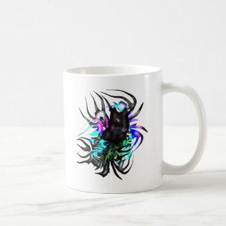 黒いオオカミ コーヒーマグカップ