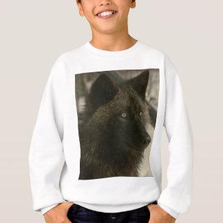 黒いオオカミ スウェットシャツ