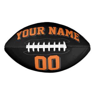 黒いオレンジおよびチャコールグレーの習慣のフットボール アメリカンフットボール