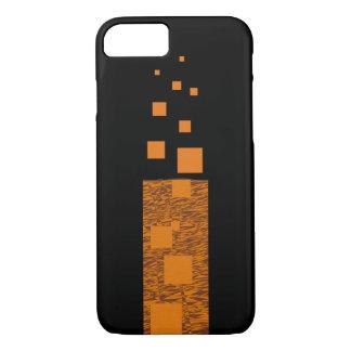 黒いオレンジ注意深い浮遊物の火のトーチのミステリー細い棒 iPhone 8/7ケース