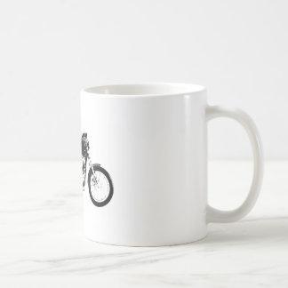 黒いオートバイ コーヒーマグカップ