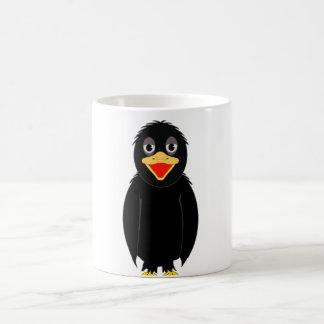 黒いカラスのマグ コーヒーマグカップ
