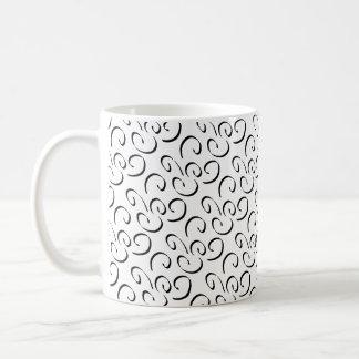 黒いカーブ コーヒーマグカップ