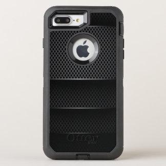 黒いカーボン網- オッターボックスディフェンダーiPhone 8 PLUS/7 PLUSケース