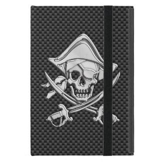 黒いカーボン繊維のスタイルの海賊 iPad MINI ケース