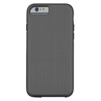 黒いカーボン繊維の基盤 iPhone 6 タフケース