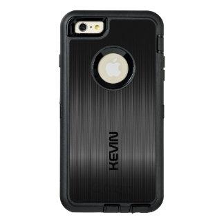 黒いカーボン繊維の質のモノグラム オッターボックスディフェンダーiPhoneケース