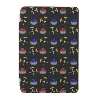 黒いカールパターン iPad MINIカバー