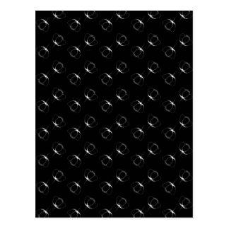 黒いキンボウゲの白 ポストカード