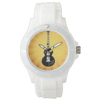 黒いギター- 腕時計