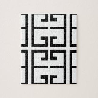 黒いギリシャのタイル ジグソーパズル