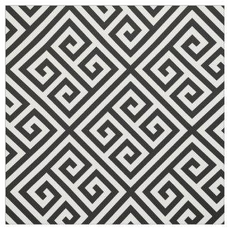 黒いギリシャの主パターン ファブリック