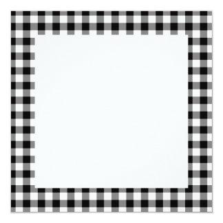 黒いギンガムパターン カード