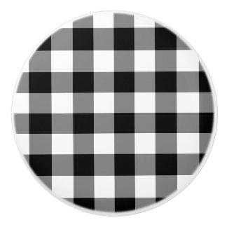 黒いギンガム セラミックノブ