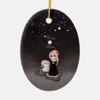 黒いクリスマス: メリーなゴシック様式クリスマス セラミックオーナメント