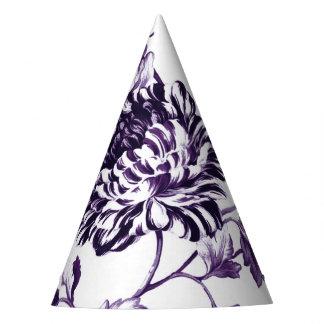 黒いクワ紫色の花のToile No.3 パーティーハット