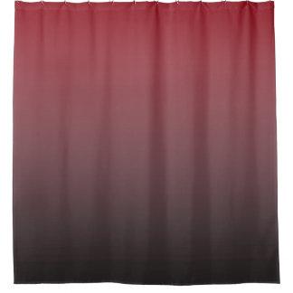 黒いグラデーション勾配のあなたの色は衰退します シャワーカーテン
