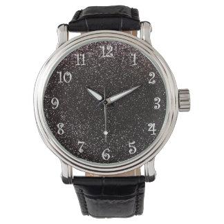 黒いグリッター 腕時計
