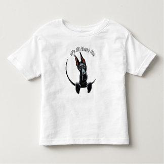 黒いグレートデーンIAAM トドラーTシャツ