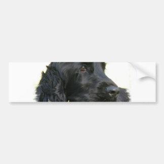 黒いコッカースパニエル犬のバンパーステッカー バンパーステッカー
