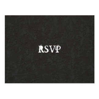 黒いゴシック割れたRSVP ポストカード