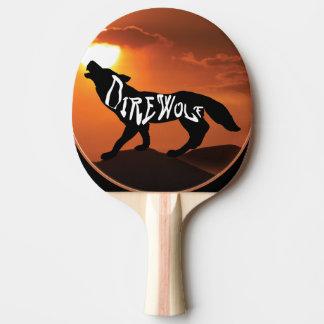 黒いゴム背部DIREWOLF 2 卓球ラケット