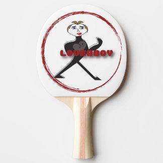 黒いゴム背部LOVERBOY円のロゴ 卓球ラケット