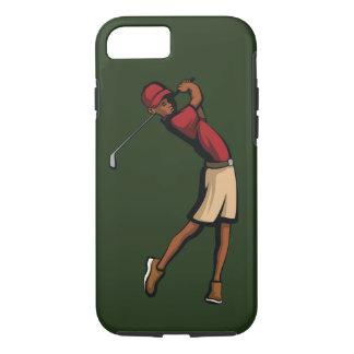 黒いゴルファーの男の子 iPhone 8/7ケース