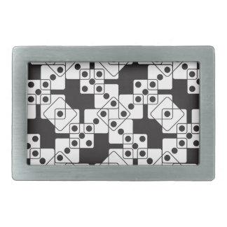 黒いサイコロ 長方形ベルトバックル