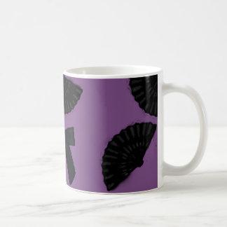 黒いサテン コーヒーマグカップ