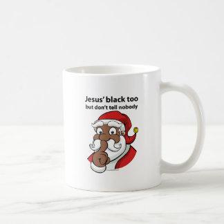 黒いサンタ コーヒーマグカップ
