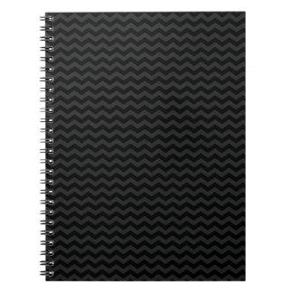 黒いシェブロン ノートブック