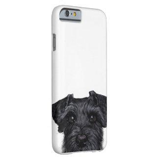黒いシュナウツァー、元の絵画およびデザイン BARELY THERE iPhone 6 ケース