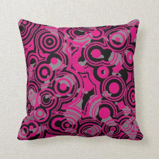 黒いショッキングピンク及び抽象芸術の装飾用クッション クッション