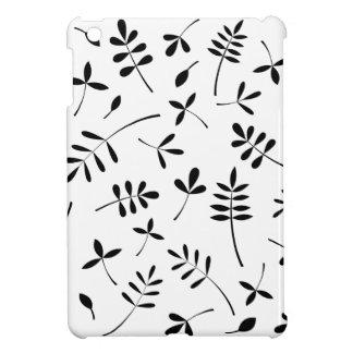 黒いシルエットの葉のデザイン iPad MINIケース