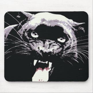 黒いジャガーのヒョウ マウスパッド