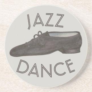 黒いジャズダンスの靴の先生の振付師 コースター