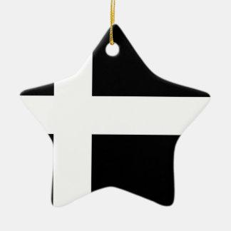 黒いスウェーデンの国旗 セラミックオーナメント