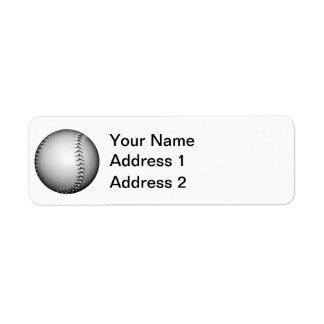 黒いステッチの野球/ソフトボール ラベル